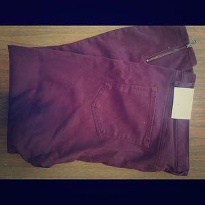 Maroon Loft Pants